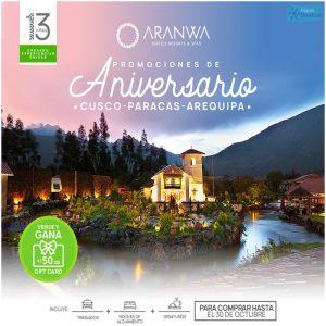 Promociones de Aniversario Cusco, Paracas y Arequipa con Viajes BEAUCE.