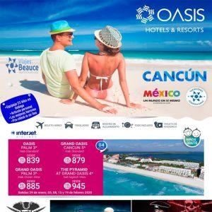 Lo mejor del Caribe Mexicano con Hoteles Oasis y  Viajes BEAUCE.