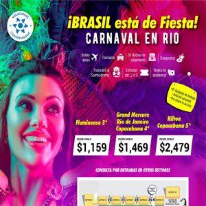 ¡Brasil está de fiesta! ¡Carnaval en Río 2020! con Viajes BEAUCE..