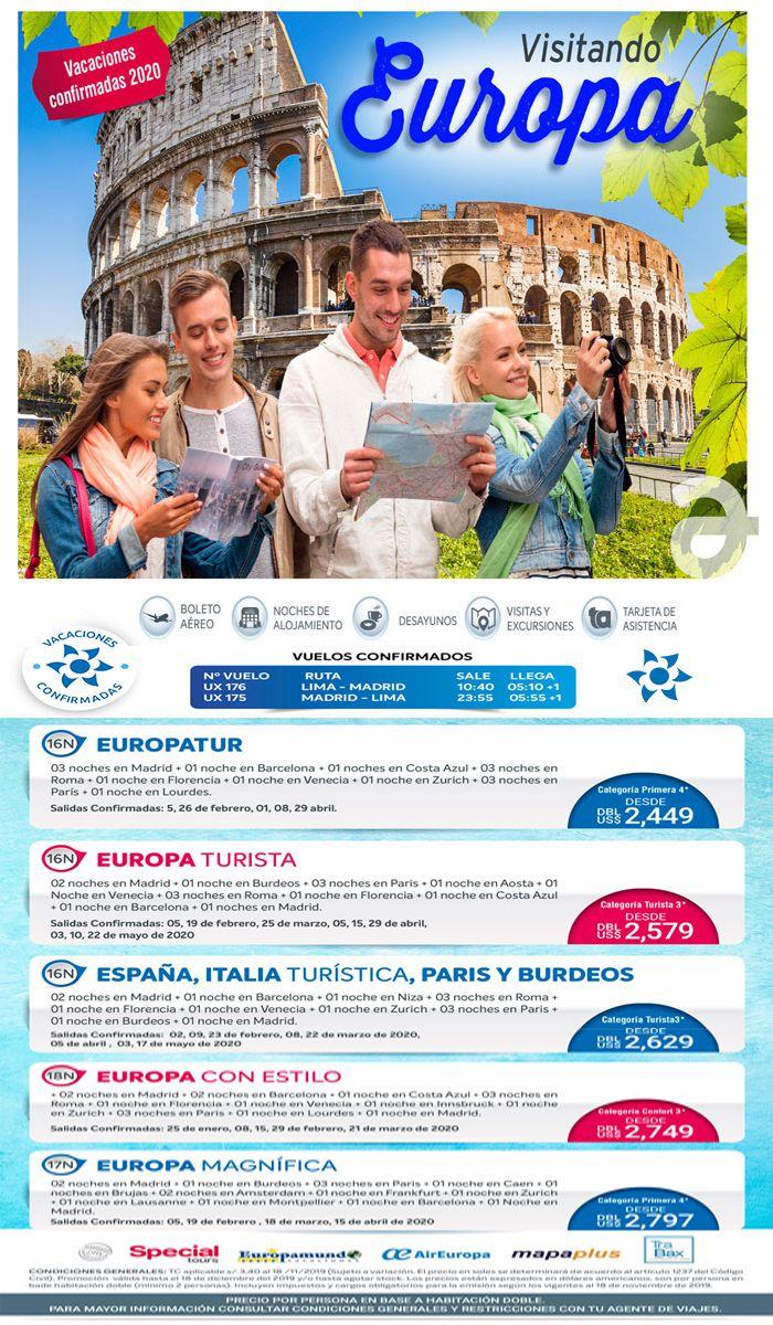 ¡Lo mejor de Europa con Air Europa! Vacaciones Confirmadas con Viajes BEAUCE.