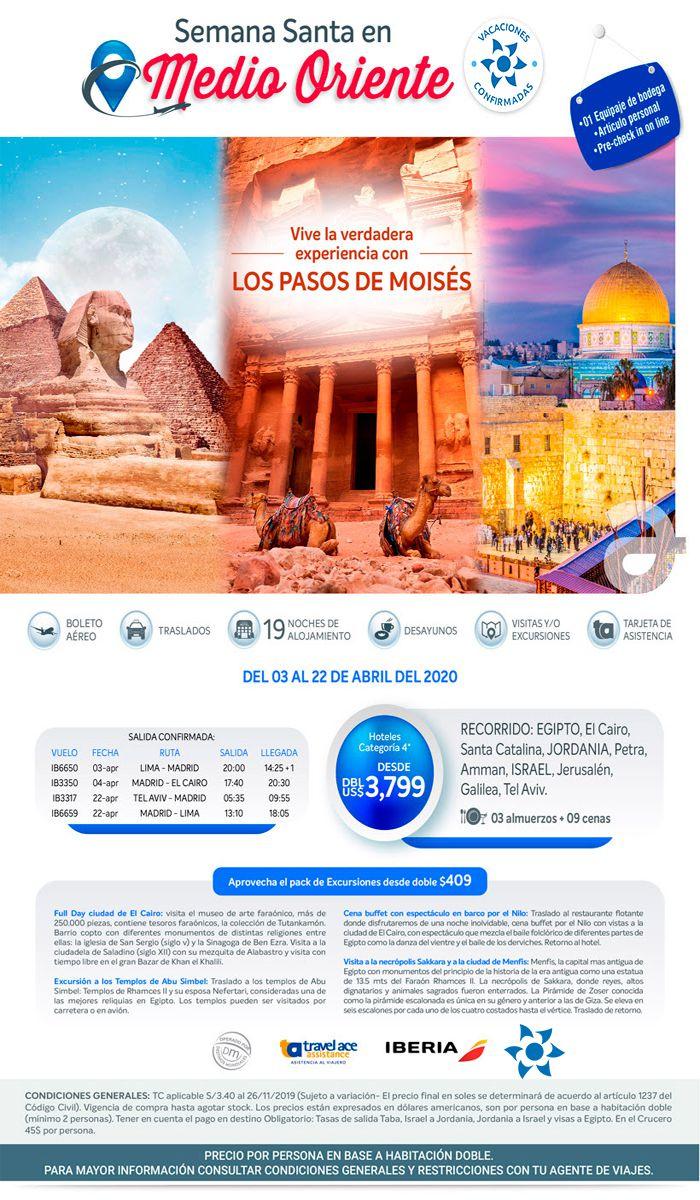 ¡Vive la experiencia de los Pasos de Moisés! ¡Semana Santa 2020! con Viajes BEAUCE.