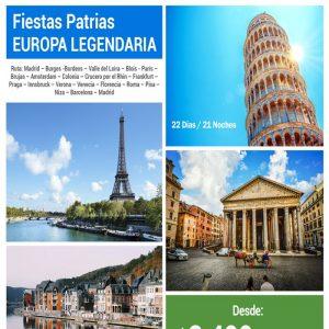 ¡EN FIESTAS PATRIAS SE CONOCE EUROPA! con viajes BEAUCE.
