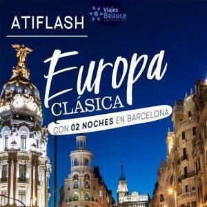 Conoce Europa clásica con 02 noches en Barcelona… Reserva AHORA!!! con Viajes BEAUCE.