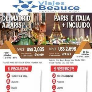 Disfruta los + Incluidos a Europa desde USD 2,035 con Viajes BEAUCE.