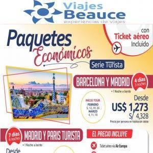 Paquetes Económicos para Europa con ticket aéreo incluido te lo ofrece Viajes BEAUCE..