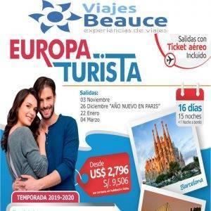 Europa turista desde USD 2,796 con Ticket Aéreo con Viajes BEAUCE.