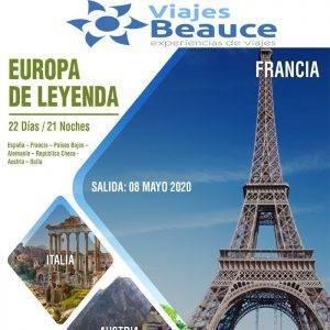 Disfruta de Europa de Leyenda con Viajes BEAUCE..