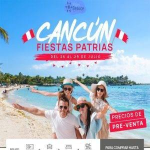 Espacios Confirmados a Cancún por Fiestas Patrias.. Reserva Ya!! con Viajes BEAUCE..