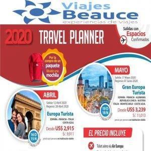Travel Planner y Viajes BEAUCE te ofrece los mejores  Tours para Europa.