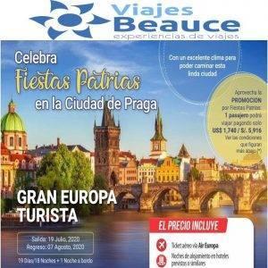 Celebra Fiestas Patrias en Praga con Viajes BEAUCE.