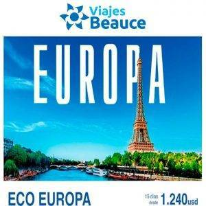 ¡¡¡15 días en Europa desde 1240 USD con Viajes BEAUCE!!!