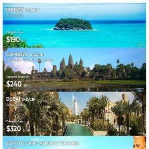 Disfruta de la siguiente promociones que trae Viajes BEAUCE para tu próxima vacaciones….