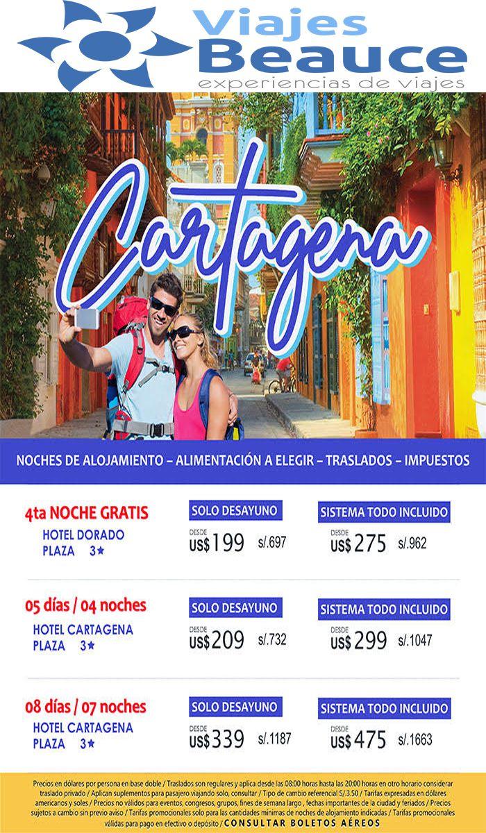 CARTAGENA   4TA noche GRATIS!!! Visite Colombia con Viajes BEAUCE.