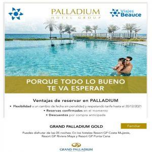 ¡¡¡Disfruta de los mejores Hoteles del PALLADIUN en el playa de Riviera Maya, Costa de Mujeres y Punta cana con Viajes BEAUCE!!!