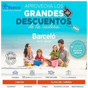 Aprovecha los Grandes Descuentos de la cadena BARCELO Hotel Group con Viajes BEAUCE.