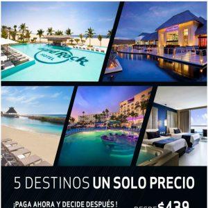¡¡ 5 Destino un solo precio en Hard Rocr Hotel con Viajes BEAUCE!!