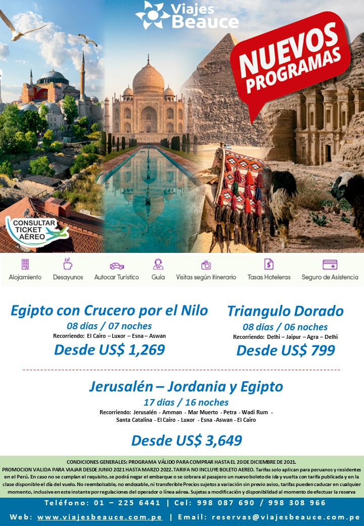 Disfruta de EGIPTO Y EL TRIANGULO DORADO con Viajes BEAUCE.