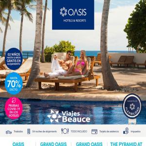 Disfruta DE LOS HOTELS & RESORTE OASIS EN compañía de Viajes BEAUCE.