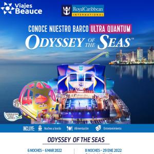 CONOCE NUESTRO BANCO ULTRA QUANTUN ODYSSEY OF THE SEAS EN compañía de Viajes BEAUCE.