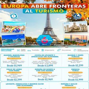 EUROPA ABRE FRONTERAS AL TURISMO DISFRUTALO compañia de Viajes BEAUCE.